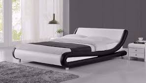 curved bed frame italian modern curved designer faux leather double bed frame with