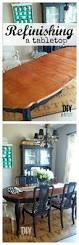 Refinishing Dining Room Table by Refinishing A Dining Table Diy Beautify