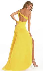 front slit open back one shoulder sweetheart natural elegant