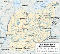 Ohio rivers images Map still ohio river basin major dams and reservoirs heather gif