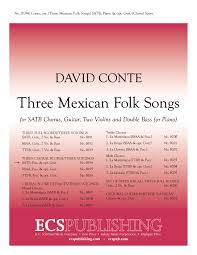 mexican folk songs piano choral score for satb version