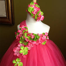 aliexpress com buy rose red girls flowers tutu dress fashion