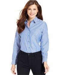 button blouses s blue vertical striped button blouse white skater