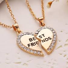 silver best friend necklace images Best friends necklace 2 parts charming splice broken heart letter jpg