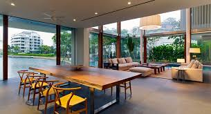Slab Dining Room Table by Architecture Dining Room Singapore Home By Robert Greg Shand