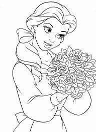 fresh ideas disney princess coloring pages baby belle ariel