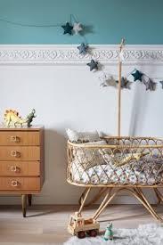 deco chambre vintage wicker baby bassinet open travel