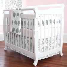 Grey Mini Crib Grey Mini Crib Mi Tw Pink And Bedding Gray Chevron With Changing