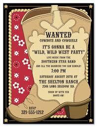 cowboy invitations template best template collectkion wild