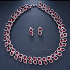 necklace set white images Wedding jewelry sets bridal necklace set for women teardrop white jpg