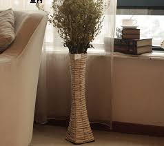 Wicker Vases Wicker Floor Vase With Flower And Corner Placement Ideas And Warm