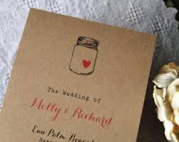 Country Wedding Programs Backyard Wedding Etsy