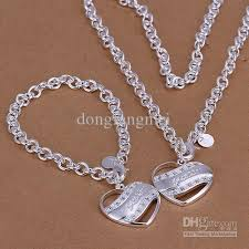 sterling silver necklace designs images 2018 a top sale lovely design semi solid set 925 sterling silver jpg
