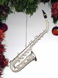 saxophone ornament 3 inch firebird arts and