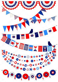 set american decorations stock vector mayamy 73620657