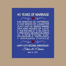45 year anniversary gift 45th anniversary gift 1973 anniversary gift 45 years