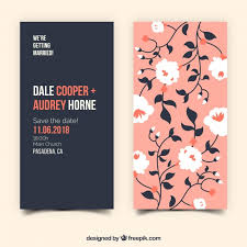wedding invitations freepik vintage wedding invitation with flowers vector free