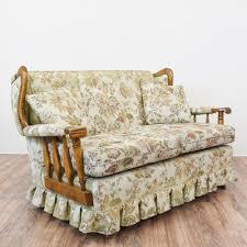 floral country rocking sofa loveseat loveseat vintage furniture