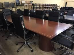 Metal Conference Table 20ft Black Granite Conference Table Atlanta Office Liquidators