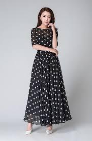 black and white dresses polka dot dress summer dress prom dress black white dress