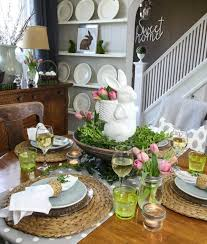 Easter Dining Room Decorating Ideas by My Spring Dining Room The Creek Line House