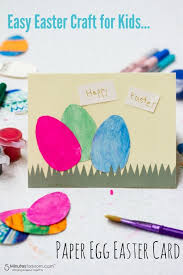 Holiday Crafts For Kids Easy - paper egg easter card easy craft for kids easter card easter
