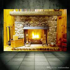 home decor 3d stickers 3d wall sticker fireplace furnace pvc removable wall decals home