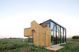 sustainable house builded with 100 recycled materials g house