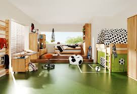 Little Boys Bedroom Designs With Amazing Loft Bed Model Bunk Bed - Kids football room