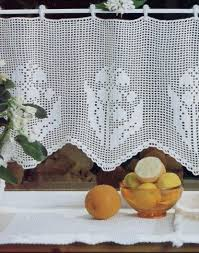 Crochet Kitchen Curtains by 14 Best Puntillas De Cortinas Images On Pinterest Crochet