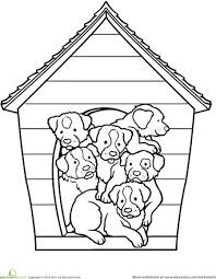 dog house coloring pages 49 best puppy u0027s and dogs images on pinterest coloring sheets