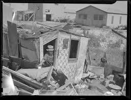 depression era squatters shacks being bulldozed digital commonwealth
