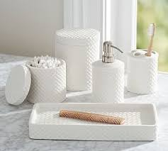 Bathroom Vanity Accessories Bathroom Canisters Accessories Pottery Barn