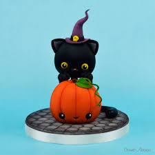 Halloween Cat Cake by Crumb Avenue Tutorials By Agnes Jagiello Halloween Pumpkin And A Cat