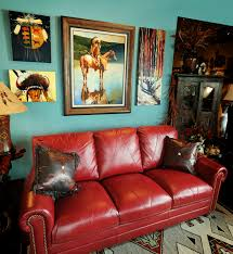 Red And Turquoise Living Room by Red Leather Sofa U0026 Artwork Little Bear Interiors The Best