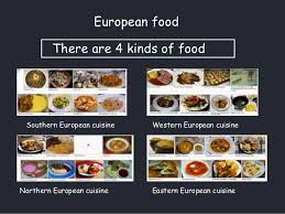 european cuisine food around the