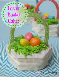 easter basket snack cakes using little debbie treats