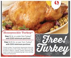 safeway free turkey with 100 grocery purchase