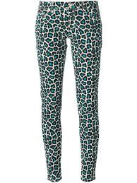 Blue Leopard Print Michael Michael Kors Leopard Print Trousers In Blue Lyst