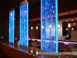 wonderful home decor idea with waterfall glass design beside