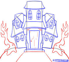 halloween house clipart drawn haunted house hauted pencil and in color drawn haunted
