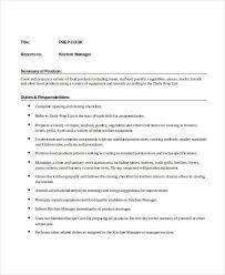 job description of a prep cook hospitality cv templates jobs