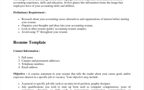 professional resume template accountant cv document sle sle resume for fresh accounting graduate without impressive job