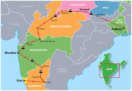 India On A Map by Heartlands Of India Group Tour Incredible India Tours