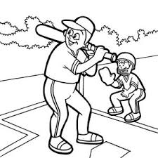 baseball player coloring baseball player coloring