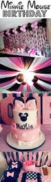 Pink And Black Minnie Mouse Decorations Minnie Mouse Theme First Birthday Part Ideas Minnie Mouse