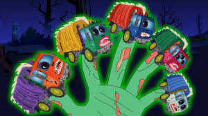 scary garbage truck halloween finger family song for kids youtube