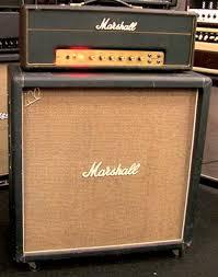 Orange Cabinet 4x12 1968 Marshall 50 Watt Jmp And 4x12