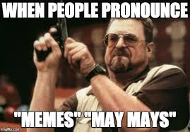 How Do I Pronounce Meme - am i the only one around here meme imgflip
