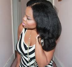 pictures of a black blowout hairstyle natural hair blow out flexi rods big hair with texture